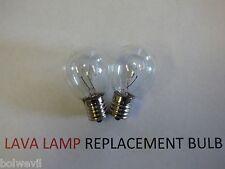 2 X 40w LAVA LAMP LIGHT BULB S type E17 BASE 40 watt S11, 40s11, 40s11N, S11N40