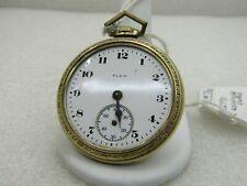 10kt Rolled Gold Elgin Pocket Watch - Parts, 45.3mm wide.