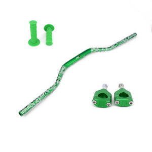 Fat Bar Handlebar Grips Mount Riser Clamps For KX125 KX250 KXF250 450 Motorcycle
