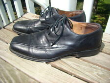 JOHNSTON & MURPHY BLACK LEATHER LACE UP OXFORDS LOAFERS MENS SIZE 9 M