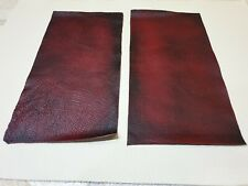 """Red Oxblood 9""""×4.5"""" antique rub off 100% leather offcuts 1mm x2  Craft Patch"""