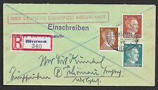 German Reich covers 1944 R-cover Deutsche Dienstpost Niederlande/HILVERSUM