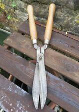 Vintage Brades 730 Garden Hedging Shears - Hollow Ground Steel Made in England