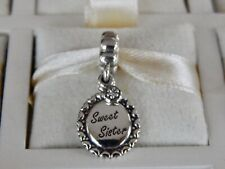 AUTHENTIC PANDORA Sweet Sister Charm 791126CZ Dangle RETIRED (ONE CHARM) NEW!
