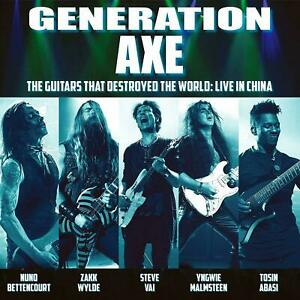 GENERATION AXE Guitars That Destroyed The World CD NEW Vai Wylde Malmsteen Nuno