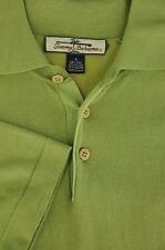 Tommy Bahama Men's Green Silk & Nylon Blend Polo Shirt S Small