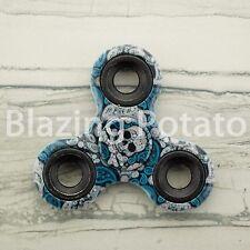 Designer Tri Spinner Fidget Spinners Figet Desk Toy Focus EDC ADHD ☆USA☆ SKULL