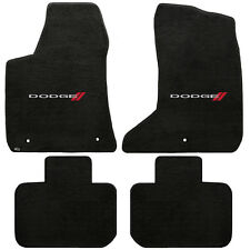 Ebony Velourtex 4PC Carpet Floor Mats (Charger 11-14) *Dodge Logo