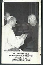 Estampa antigua del Siervo Vicente Garrido andachtsbild santino holy card