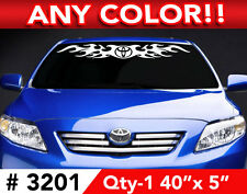 """TOYOTA CAMRYTACOMA RAV4 FLAME WINDSHIELD DECAL STICKER 40""""wx 5"""" Any 1 Color"""