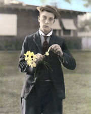 """Buster Keaton Hollywood Actor Filmmaker 8x10"""" Hand Color Tinted Photograph"""