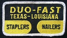 "DUO FAST EMBROIDERED SEW ON PATCH STAPLERS TEXAS ADVERTISING 4 1/4"" x 2 1/4"""