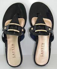 NIB Lauren Ralph Lauren Thong Patent Soft Leather Sandal sz 5.5
