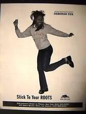 Deborah Cox Sticks To Her Roots 1999 Promo Poster Ad