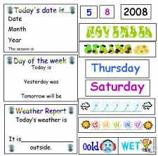 INTERACTIVE CALENDAR & WEATHER CHART -teaching resource