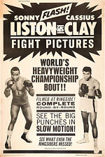 MUHAMMAD ALI V SONNY LISTON - RARE VINTAGE BOXING POSTER PRINT - GET YOURS NOW