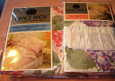VIntage (NEW) Single Bed Ruffled Quilt Set by GRACE BROS  Design : HYDRANGEAS