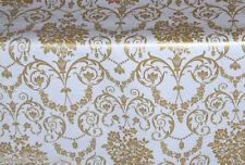 1.4m/140cm ROTONDO PVC vinile dorato PULIZIA pulibile Tovaglia di tela cerata CO