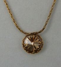 Neugablonz Anton Hübner Design Collier Goldtopas Swarovski Elements (61618)