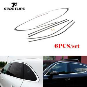 6xSilber Fenster Trim Dekoration Windows Streifen Tür Seite für Porsche Panamera