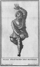 Antichità di Ercolano - Incisione su rame originale 1767 - Bronzetto con Fauno?