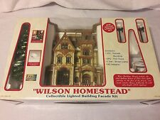 Christmas Wilson Homestead Facade Lighted Works Lemax Fibre Optics Decoration