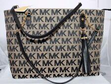 NEW MICHAEL KORS MK SIGNATURE JET SET BLACK TOTE SHOULDER BAG PURSE