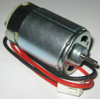 24 V - 1800 RPM - Slow Speed Electric DC Motor w/ Cable + Connector - High TQ