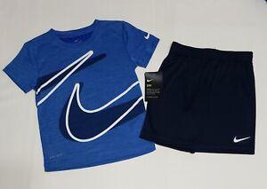 NIKE DRI-FIT Shirt & Shorts 2 Piece Graphic Set  Boy's Size 6/7 NWT