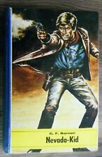 altes Leihbuch G.F. Barner Nevada Kid Western Roman Hallberg Verlag um 1960