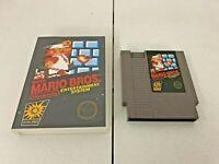 AUTHENTIC Super Mario Bros. (NES, 1985) - CARTRIDGE & CASE