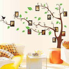 Foto Frame Brown Tree Removable Vinyl Decal Wall Stickers For Home Creative