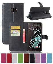 Wallet Leather Flip Card Case Pouch Cover For HTC U Ultra Genuine AuSeller