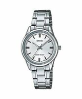 NEW MODEL Casio LTP-V005D-7A Women's Watch Stainless Steel SILVER-tone Analog