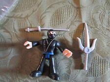Fisher Price Imaginext New Ninja black sword battle arena Samurai castle knight