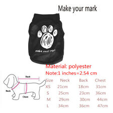Summer Fashion Pet Puppy Small Dogs Cat Clothes Dress Vest T Shirt Apparel Cloth Make Your Mark S