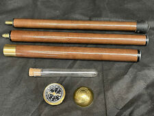 More details for 3 section walking stick with a spirit flask and a compass in the handle
