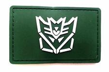 """Transformer"" Logo Paintball Airsoft PVC Velcro Patch (OD Green / White)"