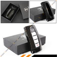 BLACK GTR STYLE CARBON FIBER KEY FOB CASE COVER FOR INFINITI Q50 Q60 Q30 G37 G35