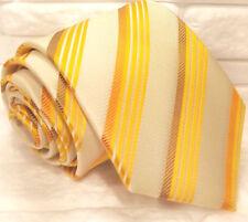 Cravatta uomo beige TOP ,Nuova, 100% seta , tie ,  business , regimental