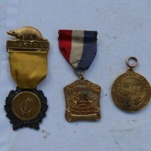 LOT Vintage Medals Camping Racine 1930 Chicago Tribune Gold Filled Hopkinton NR