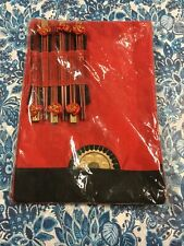 New ListingNew Asian 6 Red table cloth placemats & 6 pairs chopsticks set