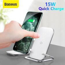 15 Вт-Baseus Qi беспроводной зарядное устройство подставка для быстрой зарядки станция подушечка для iPhone 11 Pro