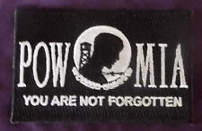 "POW MIA FLAG PATCH ""YOU ARE NOT FORGOTTEN"" DIY MILLITARY VETERAN VETS"