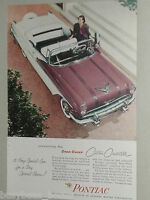 1956 Pontiac ad, Pontiac Star Chief Custom Convertible
