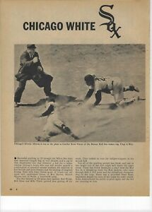 1960 Chicago White Sox Major League Baseball Magazine 2 Full Pages Print Ad