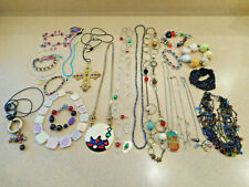 Huge 21 Pc Lot Vintage/Estate/Now Multi-Color Costume Jewelry ALL WEARABLE 1+Lbs