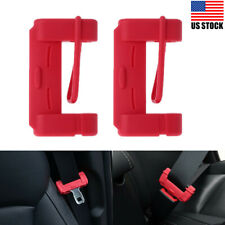 New Listing2Pcs Car Seat Safety Belt Buckle Silicone Cover Clip Anti-Scratch Accessories