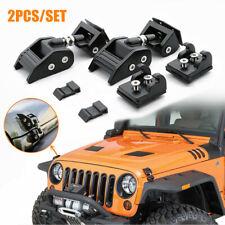 2PCS Fits Jeep Wrangler JK Anti-Theft Locking Hood Lock Catch Latches Heavy duty