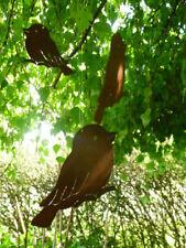 Edelrost Vogel Kette Aufhänger Dekoration Rost Eisen Türkranz Garten Terrasse